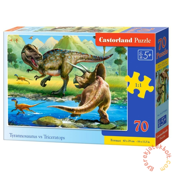 Castorland 70 db-os puzzle - Tirannoszaurusz vs. Triceratopsz (B-070084)