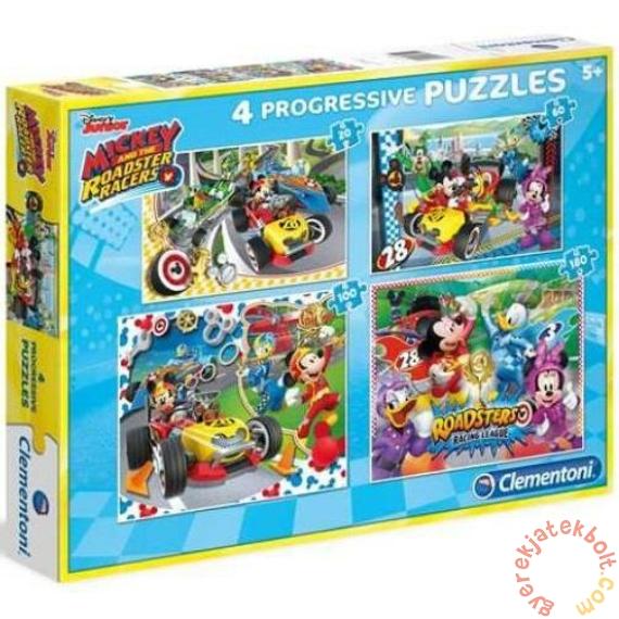 Clementoni 4 az 1-ben  puzzle (20,60,100,180 db-os) - Mickey Mouse és barátai (07718)