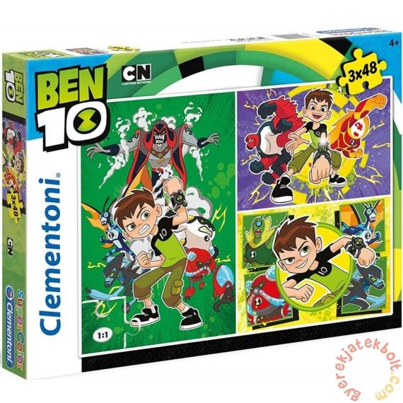 Clementoni 3 x 48 db-os Szuper Színes puzzle  - Ben 10 (25225)