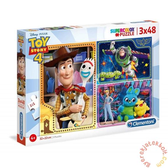 Clementoni 3 x 48 db-os Szuper Színes puzzle  - Toy Story 4 (25242)