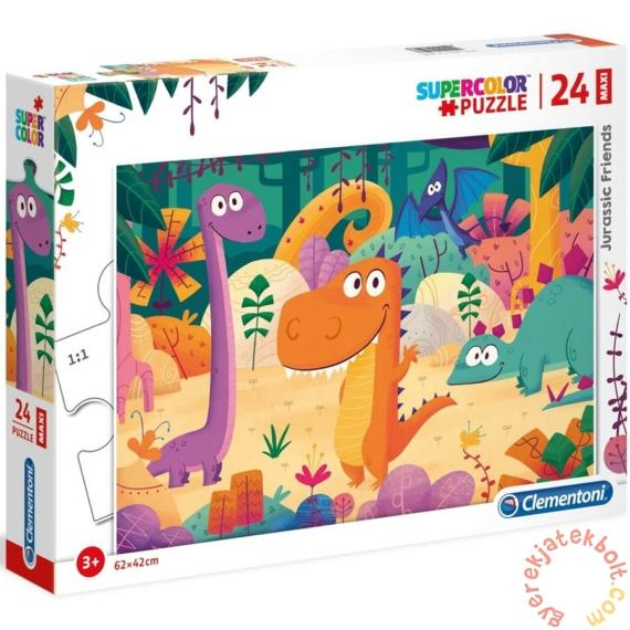 Clementoni 24 db-os Maxi puzzle - Dínó barátok (28506)