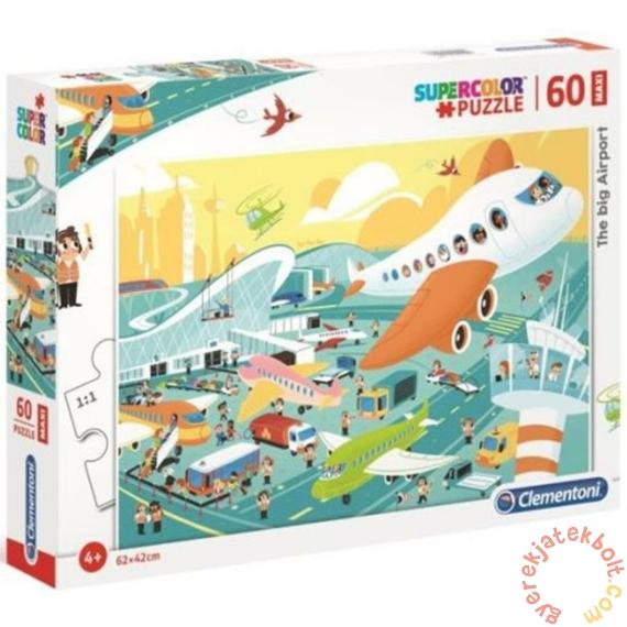 Clementoni 60 db-os Szuper Színes Maxi puzzle - A nagy repülőtér (26447)
