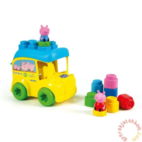 Clementoni - Clemmy Peppa malac iskolabusz tároló puha építőkockákkal