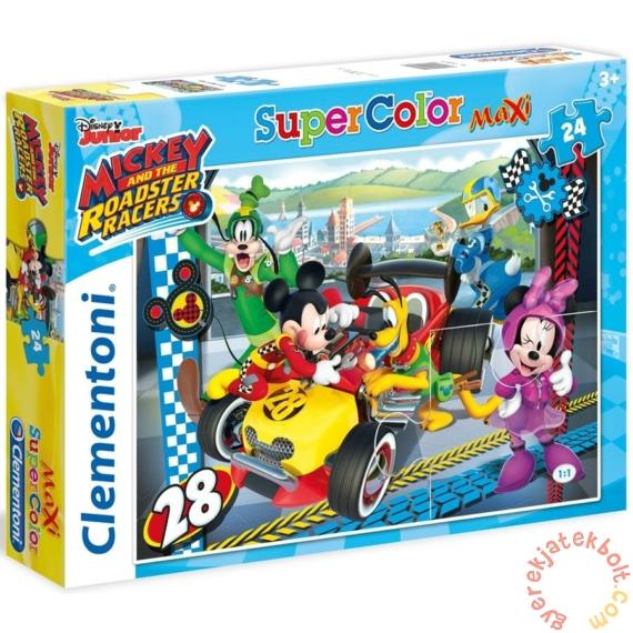 Clementoni 24 db-os Maxi puzzle - Mickey Mouse és barátai - Verseny (24481)
