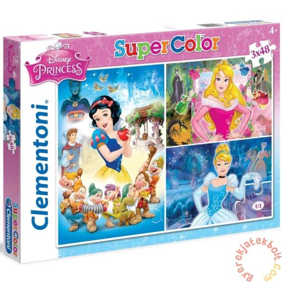 Clementoni 3 x 48 db-os Szuper Színes puzzle  - Disney Princess (25211)