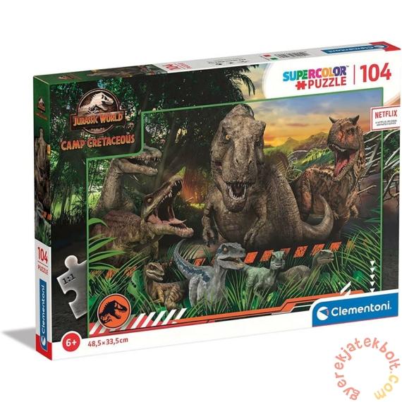 Clementoni 104 db-os Szuper színes puzzle - Jurassic World - Krétakori tábor (27545)