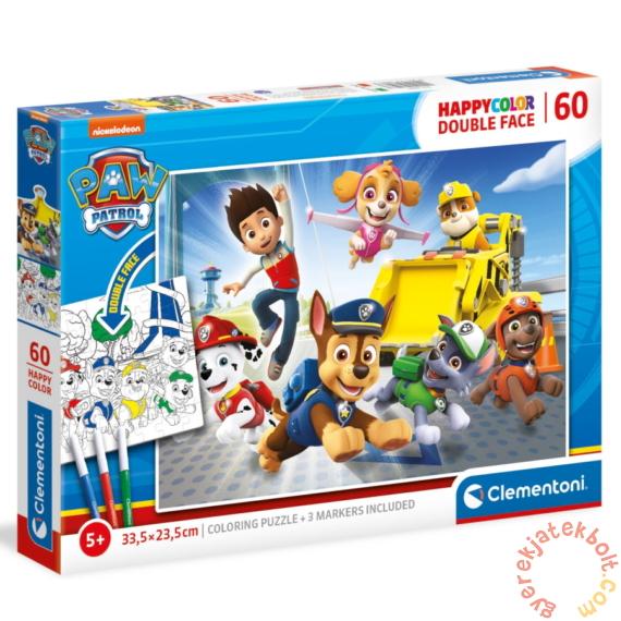 Clementoni 60 db-os Színezhető kétoldalas puzzle - Mancs őrjárat (26097)