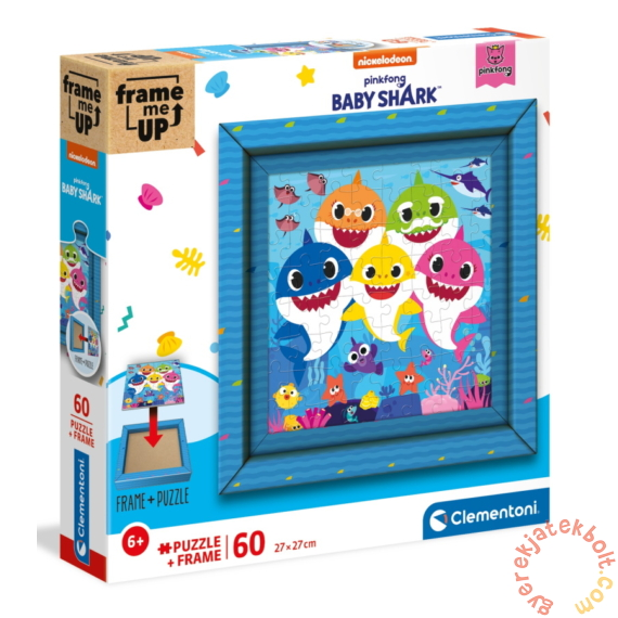 Clementoni 60 db-os puzzle képkerettel - Baby Shark (38807)