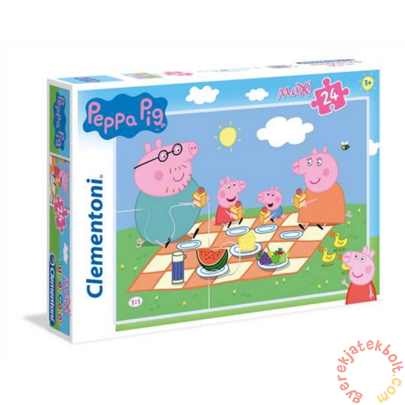 Clementoni 24 db-os Szuper Színes Maxi puzzle - Peppa malac - Családi piknik (24028)