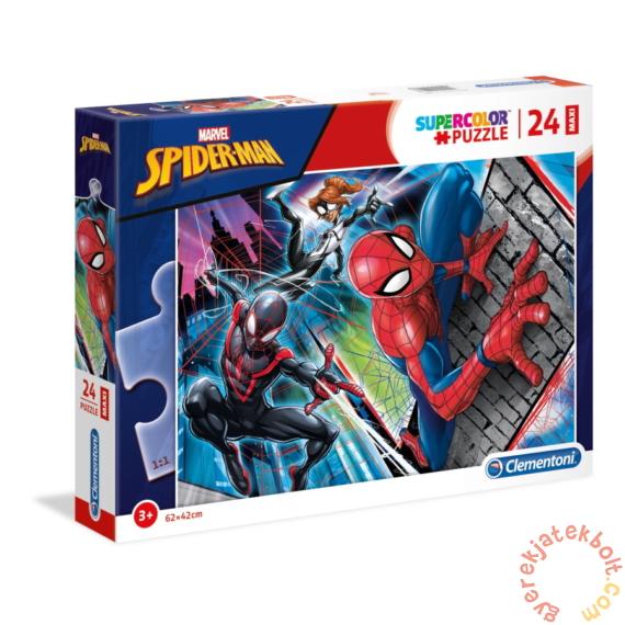 Clementoni 24 db-os Szuper Színes Maxi puzzle - Pókember (24497)