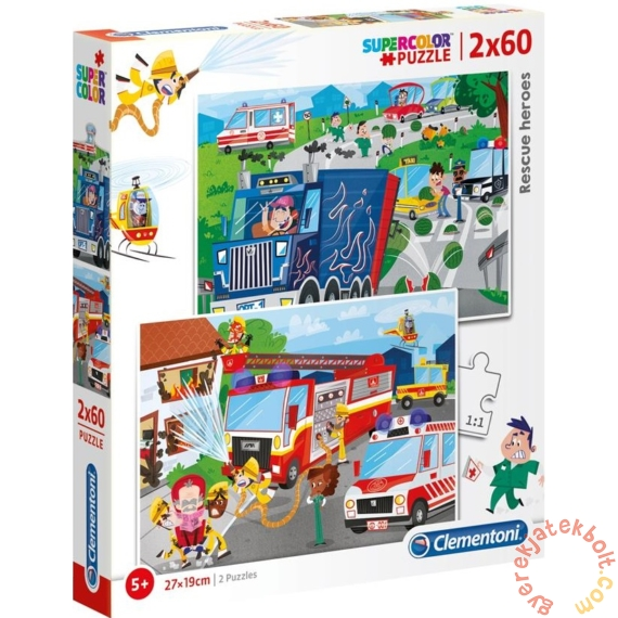 Clementoni 2 x 60 db-os puzzle - Rescue Heroes (21602)