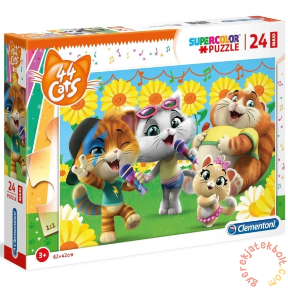 Clementoni 24 db-os Maxi puzzle - 44 csacska macska (28500)
