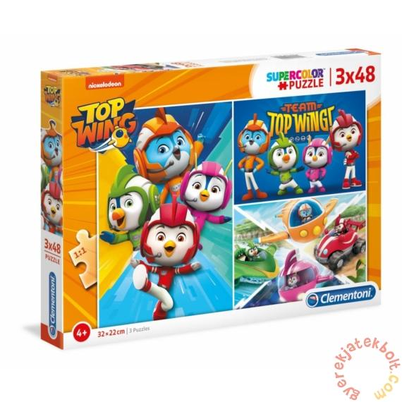 Clementoni 3 x 48 db-os Szuper Színes puzzle  - Szuper Szárny (25241)