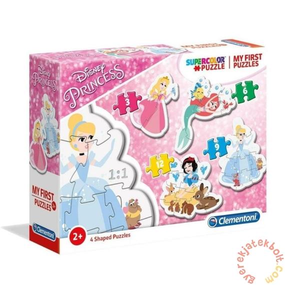 Clementoni 4 az 1-ben Bébi sziluett puzzle (3,6,9,12 db-os) - Disney Princess (20813)