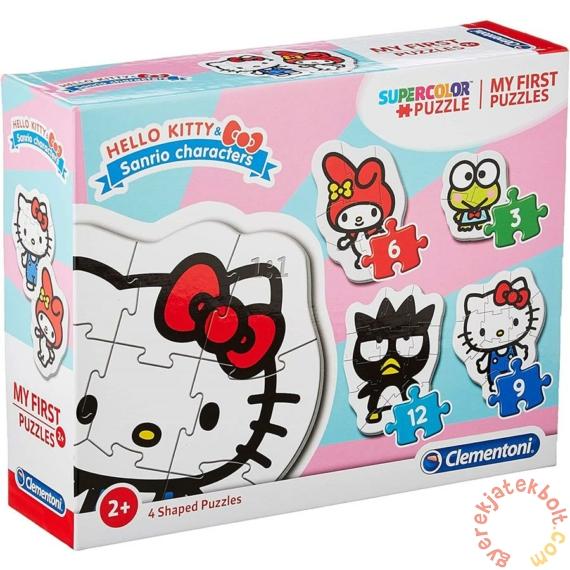 Clementoni 4 az 1-ben Bébi sziluett puzzle (3,6,9,12 db-os) - Hello Kitty (20818)
