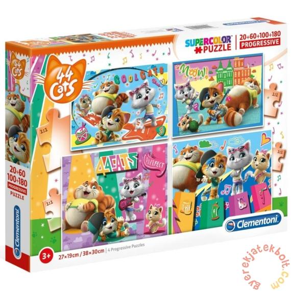 Clementoni 20, 60, 100, 180 db-os puzzle - 44 csacska macska (21407)