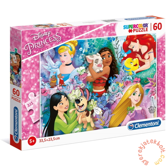 Clementoni 60 db-os Szuper Színes puzzle - Disney Princess Hercegnők (26995)