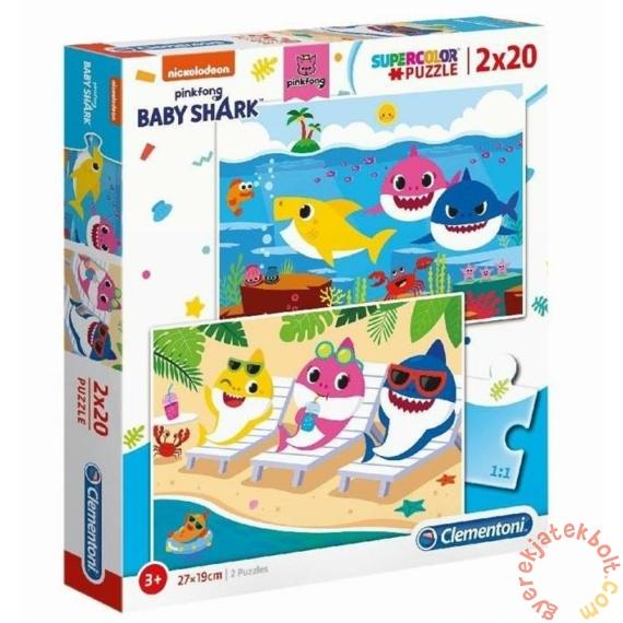 Clementoni 2 x 20 db-os Szuper Színes puzzle - Baby Shark (24777)