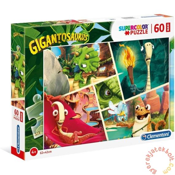 Clementoni 60 db-os Szuper Színes Maxi puzzle - Gigantoszaurusz (26457)