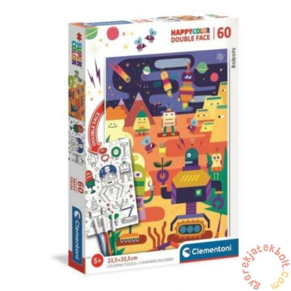 Clementoni 60 db-os Színezhető kétoldalas puzzle - Robotok (26061)