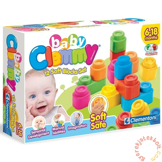 Clemmy Baby Puha kockák 12 db-os játékszett (14706)