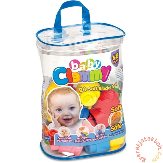 Clemmy Baby Puha kockák 24 db-os építőcsomag (14889)