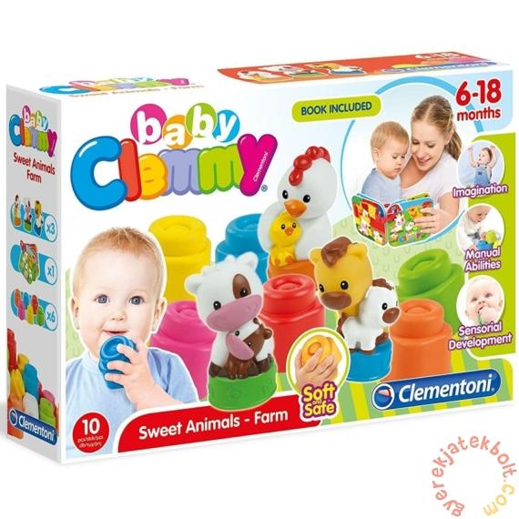Clemmy Baby Mókás Farm puha építőjáték (17174)