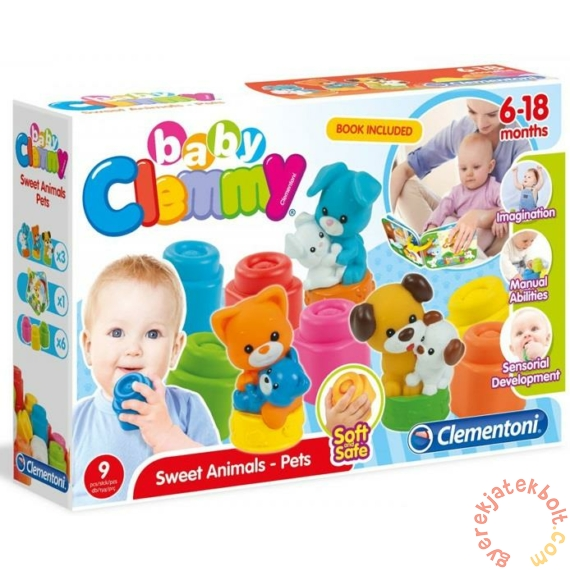 Clemmy Baby Mókás Állatok puha építőjáték (17175)