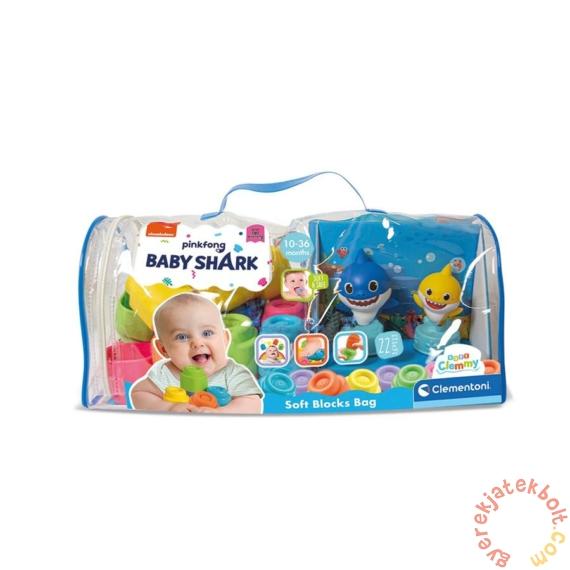 Clemmy Baby Puha kockák 22 db-os - Baby Shark építőcsomag