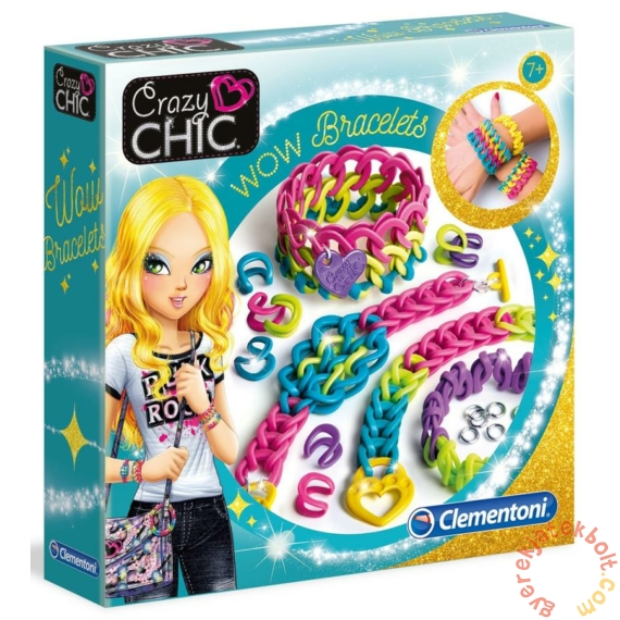 Clementoni - Crazy Chic - WOW karkötő készítő szett (78525)