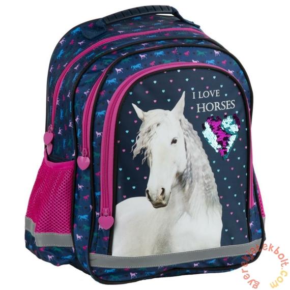 Divatos flitteres hátizsák, iskola táska