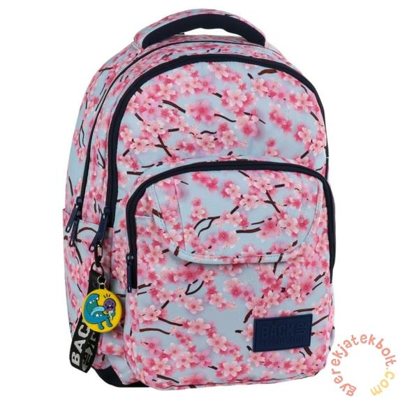 BackUp iskolatáska, hátizsák - 3 rekeszes - Cseresznyevirág (PLB2L25)
