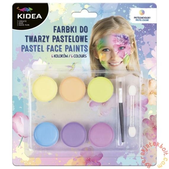 Kidea 6 színű arcfesték készlet - Pasztell