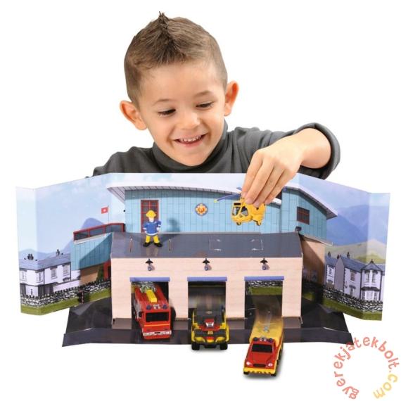 Dickie Sam, a tűzoltó - Mini tűzoltóállomás játékszett járművekkel (3093007)