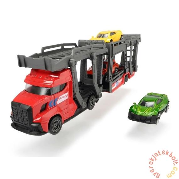 Dickie City Express autószállító kamion - Piros - 28 cm (3745008)