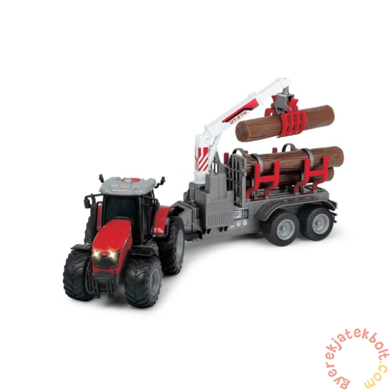 Massey Ferguson 8737 játék rönkszállító traktor