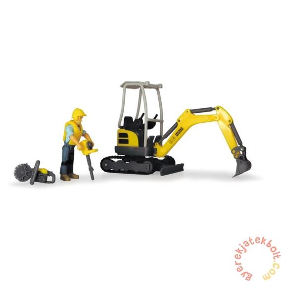 Dickie Playlife - Lánctalpas kotrógép játékszett figurával - 19 cm