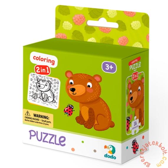Dodo 16 db-os Színezhető kétoldalas puzzle - Mackó (300120)