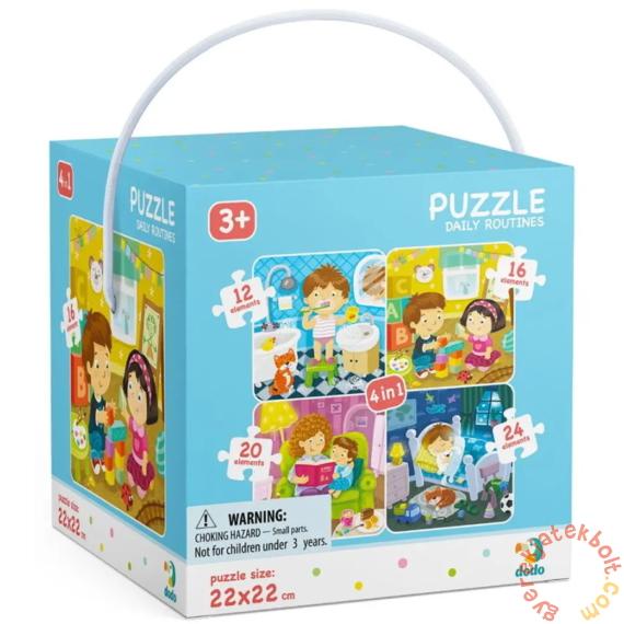 Dodo 4 az 1-ben puzzle (12, 16, 20, 24 db-os) - Egy napom (300130)