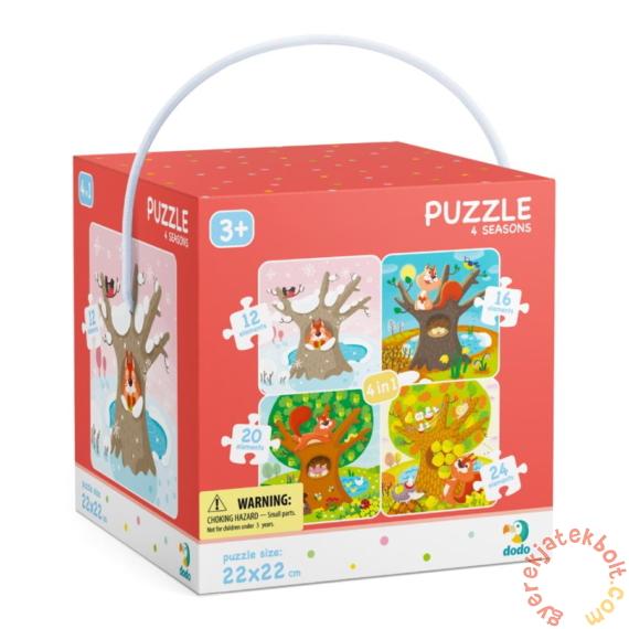 Dodo 4 az 1-ben puzzle (12, 16, 20, 24 db-os) - Évszakok (300125)