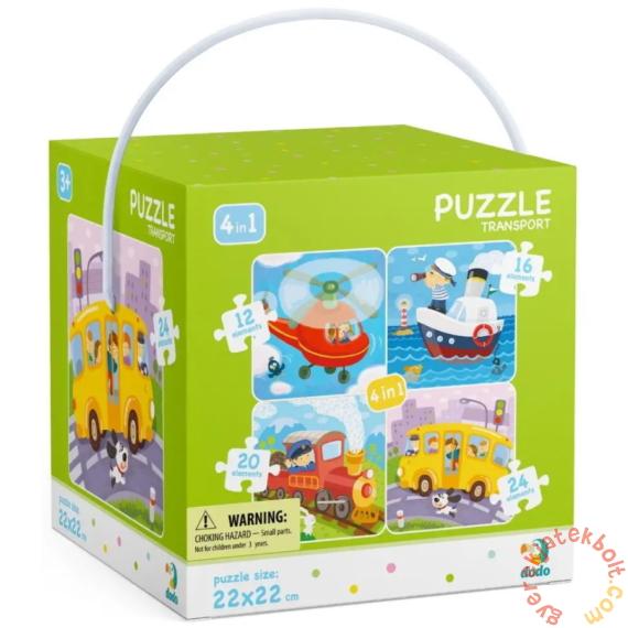 Dodo 4 az 1-ben puzzle (12, 16, 20, 24 db-os) - Járművek (300132)