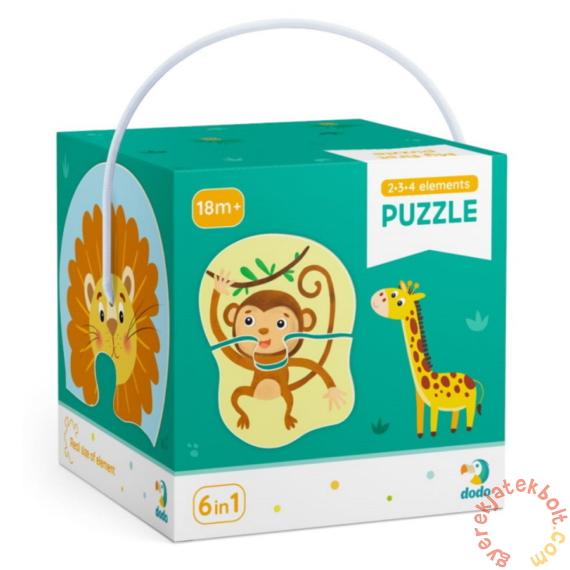Dodo 6 az 1-ben Baby sziluett puzzle (2,3,4 db-os) - Állatok a vadonban (300153)