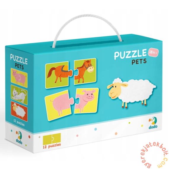 Dodo 2 x 12 db-os Duo puzzle - Háziállatok (300115)