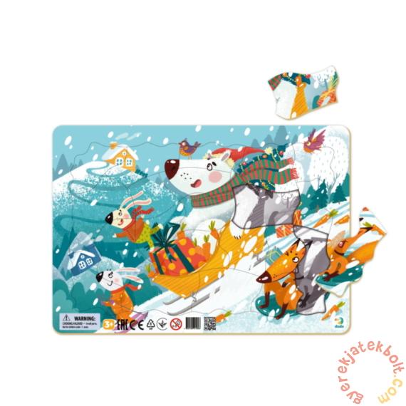 Dodo 21 db-os Keretes puzzle - Téli kalandok (300354)