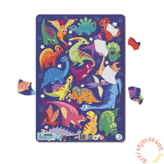 Dodo 53 db-os keretes puzzle - Dínók (300181)
