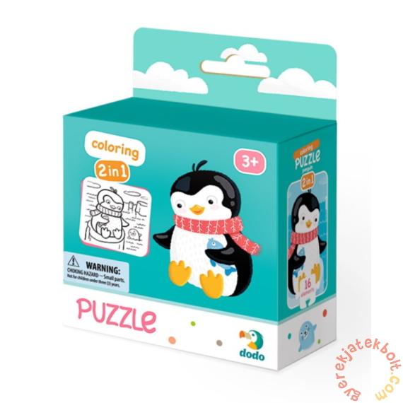 Dodo 16 db-os Színezhető kétoldalas puzzle - Pingvin (300122)