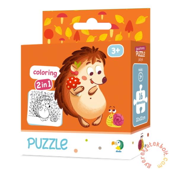 Dodo 16 db-os Színezhető kétoldalas puzzle - Süni (300119)