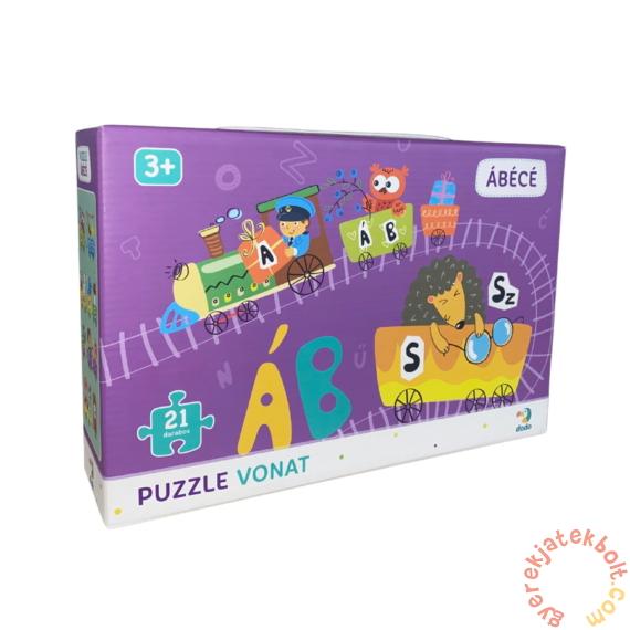 Dodo 21 db-os puzzle vonat - Magyar ábécé (300391)