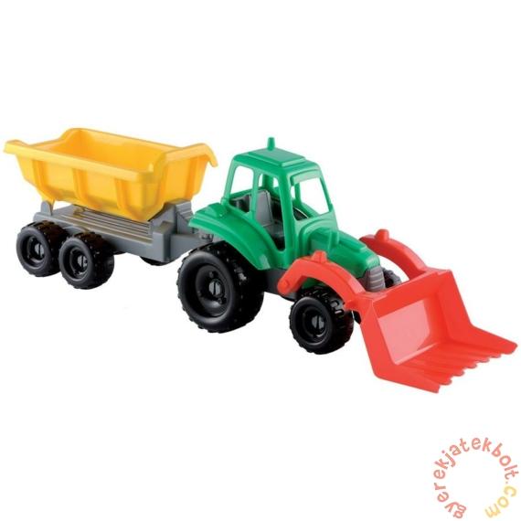 Écoiffier Óriás játék traktor utánfutóval (0327)