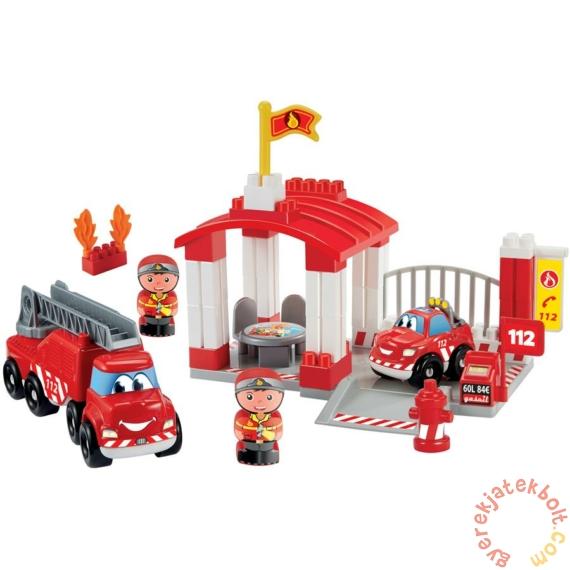 Écoiffier Abrick Tűzoltóállomás játékszett figurákkal (3014)